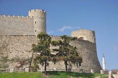 Fortaleza da couve - paredes sul, Skopje fotos de stock