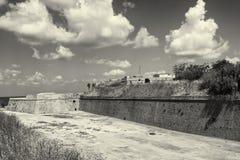 Paredes venecianas del fortalecimiento de Chania Imagen de archivo libre de regalías
