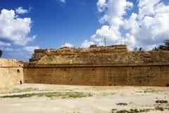 Paredes venecianas del fortalecimiento de Chania Fotografía de archivo libre de regalías