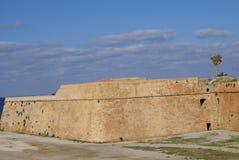 Paredes venecianas del fortalecimiento de Chania en Creta, Grecia Imagen de archivo