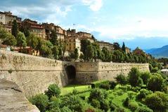 Paredes venetian de Bergamo imagem de stock royalty free