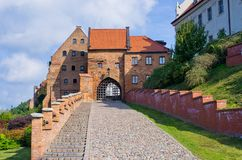 Paredes viejas de Grudziadz, Polonia Imagen de archivo libre de regalías