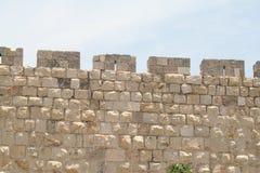 Paredes viejas de la ciudad, Jerusalén Imagen de archivo libre de regalías