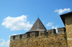 Paredes viejas de la fortaleza Imagen de archivo