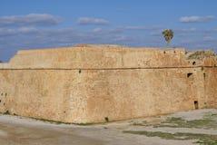 Paredes viejas del fortalecimiento veneciano de Chania en Grecia, Europa Imágenes de archivo libres de regalías