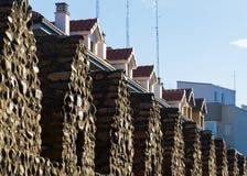 Paredes y casas medievales Foto de archivo