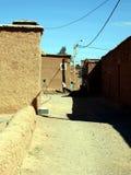 Paredes y edificios en el sur de las montañas de atlas Marruecos, África fotos de archivo