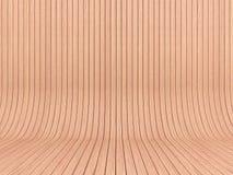 Paredes y piso de madera ligeros Foto de archivo