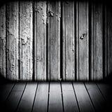 Paredes y suelo de madera stock de ilustración
