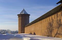 Paredes y torre sólidas Fotografía de archivo libre de regalías