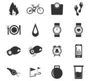 Pareggiando ed icone di allenamento messe Fotografia Stock Libera da Diritti