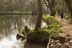 Pareggiando lungo il percorso del fiume fotografia stock libera da diritti