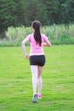 Pareggiare cinese asiatico di funzionamento di sport della donna di forma fisica Immagini Stock Libere da Diritti