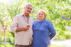 Pareja casada envejecida centro Fotos de archivo