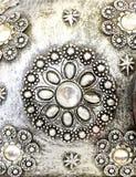 Parel bij zilver Royalty-vrije Stock Afbeeldingen