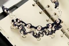 Parel geparelde halsband Royalty-vrije Stock Foto's