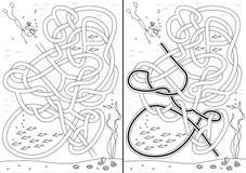 Parel het duiken labyrint royalty-vrije illustratie