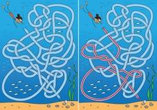 Parel het duiken labyrint stock illustratie