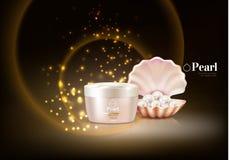 Parel Shell Cosmetic Composition royalty-vrije illustratie