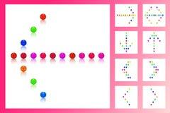 Parel, suikergoed kleurrijke achtergrond, zachte kleur Royalty-vrije Stock Fotografie