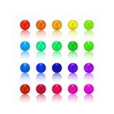 Parel, suikergoed kleurrijke reeks Stock Afbeelding