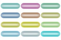 Parelachtige oog-Suikergoed Geplaatste Knopen (Geïsoleerd) Stock Foto