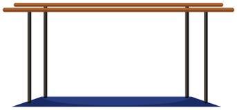Parellel bars with blue mat Stock Photos