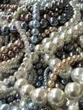 Parelparels voor juwelen het maken royalty-vrije stock afbeeldingen