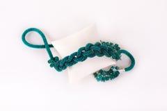 Parels, beadworks op wit Stock Fotografie