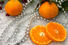 parels en mandarijnen Stock Foto