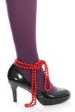 Parels en schoenen Stock Afbeeldingen