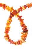 Parels van ruwe amber als daling Royalty-vrije Stock Foto