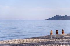 Parelstrand in Sardinige, Italië Stock Afbeelding
