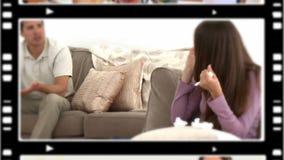 Paren die argumenten hebben stock video