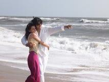 Paren in het strand stock afbeeldingen