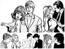 Paren in liefde Stock Afbeeldingen