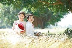 Paren op gras royalty-vrije stock foto