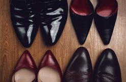 Paren schoenen van mannen en van vrouwen Royalty-vrije Stock Foto
