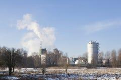 Parenco фабрики бумажной фабрики около Renkum в Нидерланд на выигрыше Стоковые Фотографии RF