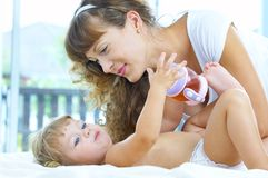 With parent Stock Photos
