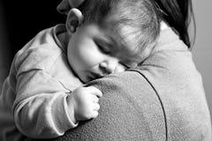 Parent with baby girl Stock Photos