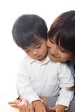 Parent and child. The child who was embraced by a mom Royalty Free Stock Photo