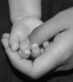 Parent and child hand. Royalty Free Stock Photo