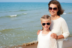Parent and child happily spend time together. The concept of summer family vacation Stock Photo