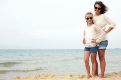 Parent and child happily spend time together. The concept of summer family vacation Stock Images