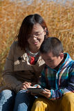 Parent child reading time Royalty Free Stock Photo