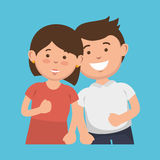 parent couple avatars characters Royalty Free Stock Image