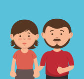 parent couple avatars characters Stock Images