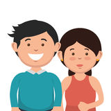 parent couple avatars characters Royalty Free Stock Photography