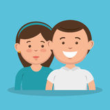 parent couple avatars characters Royalty Free Stock Images